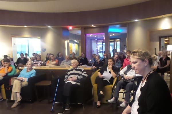 Residents enjoying the Spring Fling Student Recital at All Seasons of Birmingham in Birmingham, Michigan