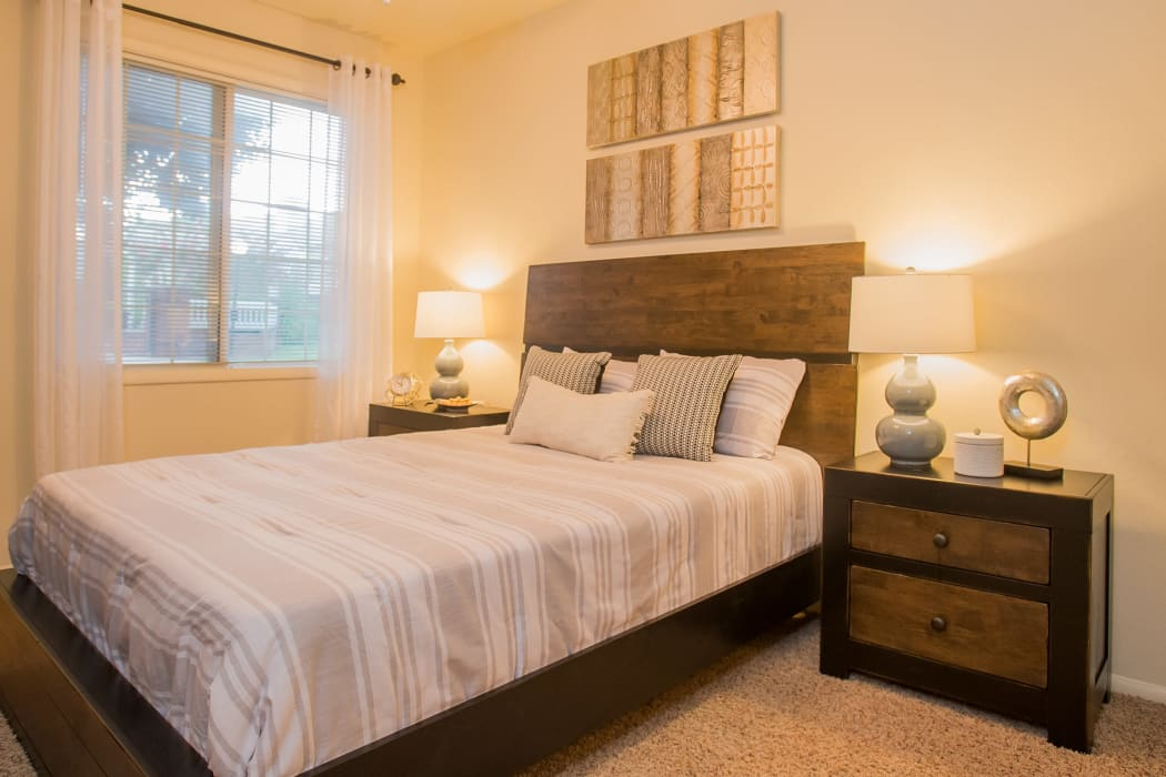 Bright spacious bedroom at The Courtyards in Tulsa, Oklahoma