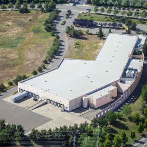 Aerial view of Superior Self Storage in El Dorado Hills, California