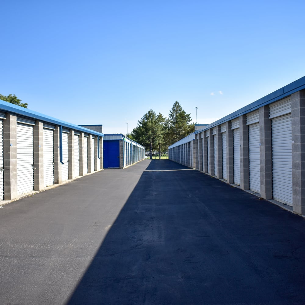 View the convenience of drive-up storage units at STOR-N-LOCK Self Storage in Sandy, Utah