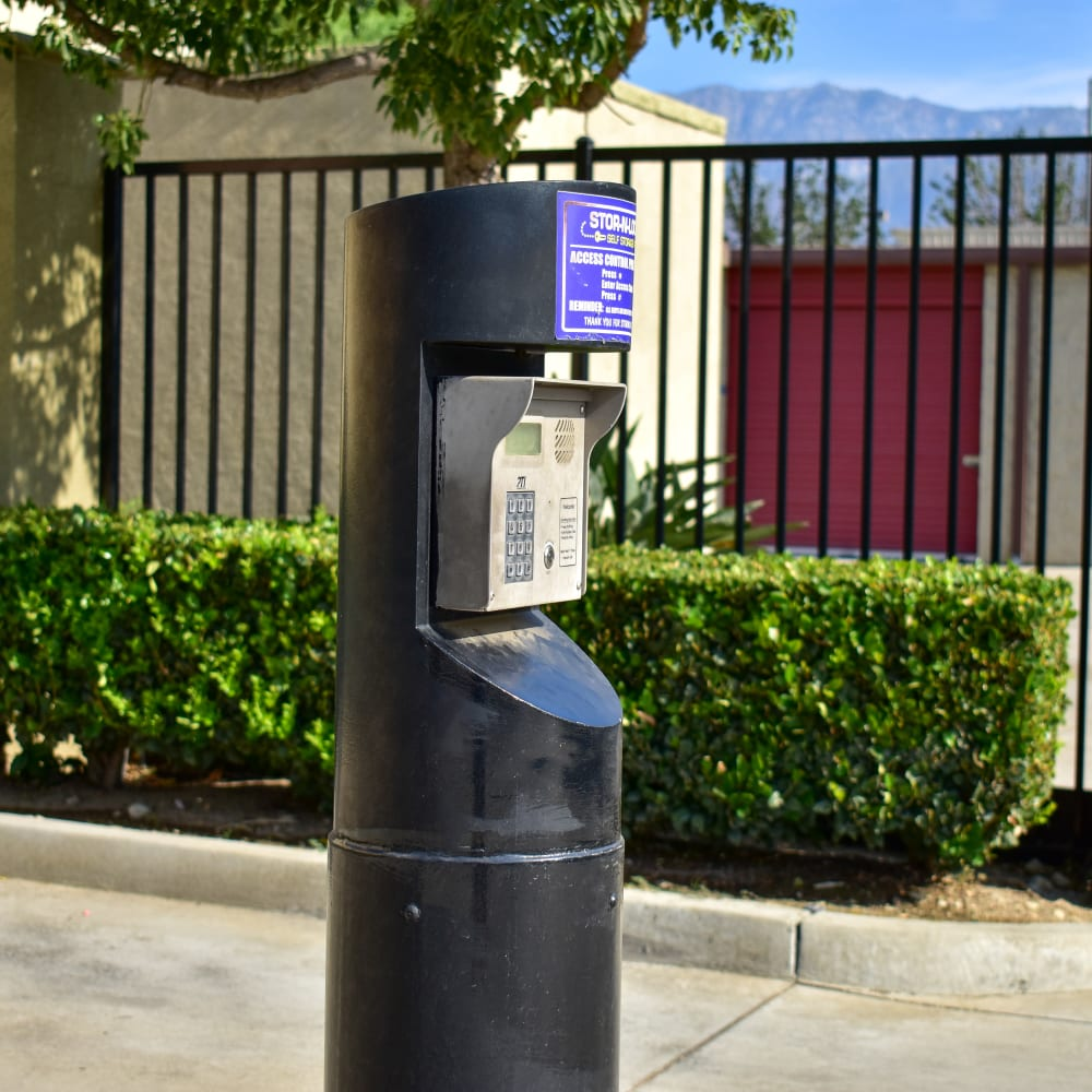 Keypad entry at STOR-N-LOCK Self Storage in Rancho Cucamonga, California