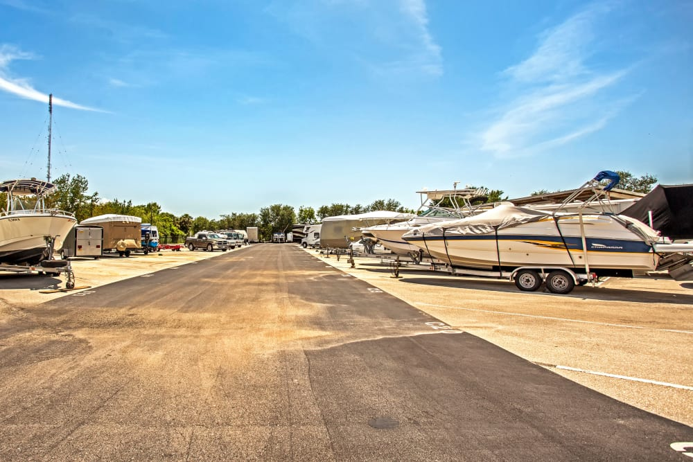 RV and boat storage at Metro Self Storage in Fort Myers, Florida
