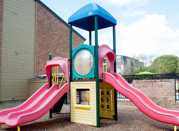 Onsite playground at Stonecrossing of Westchase in Houston, Texas.