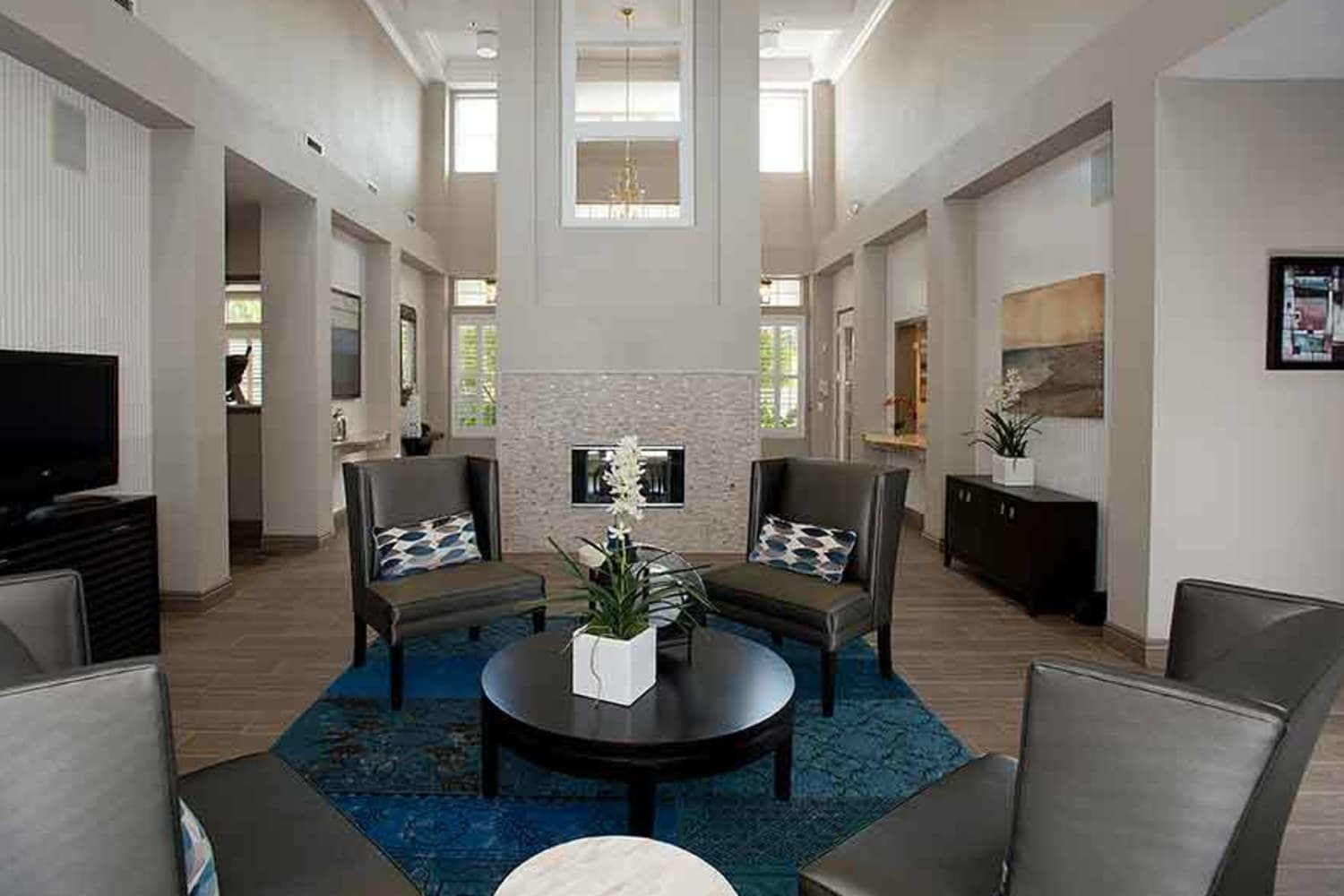 Lobby at Nantucket Apartments in Santa Clara, California
