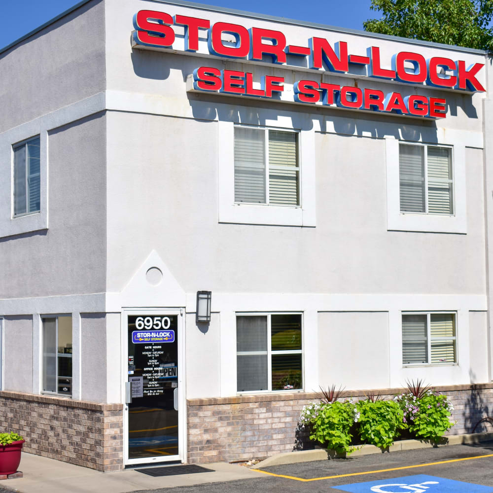The front door at STOR-N-LOCK Self Storage in Cottonwood Heights, Utah