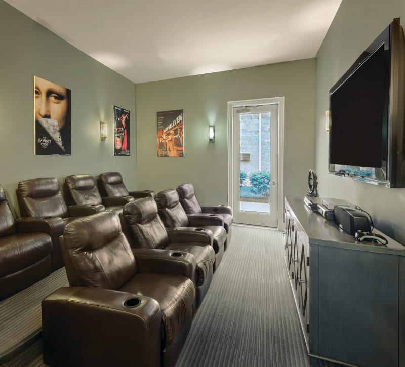 Movie theater for residents at The Gates of Deer Grove in Palatine, Illinois