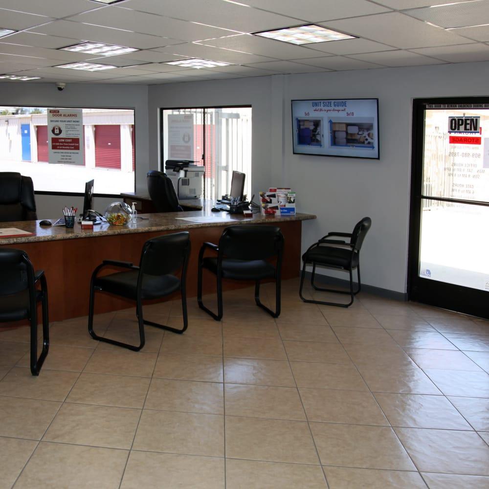 Office at Trojan Storage in Rancho Cucamonga, California