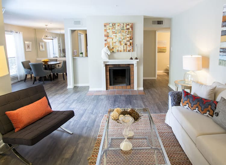 Wood-style flooring at Stonecrossing of Westchase in Houston, Texas