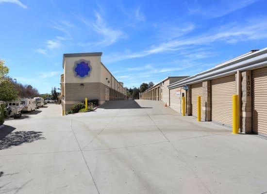 Outside storage units at A-1 Self Storage in La Mesa, California