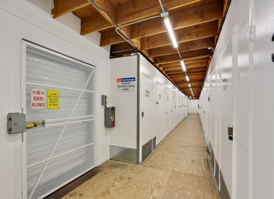 Freight elevator at A-1 Self Storage in Oceanside, California