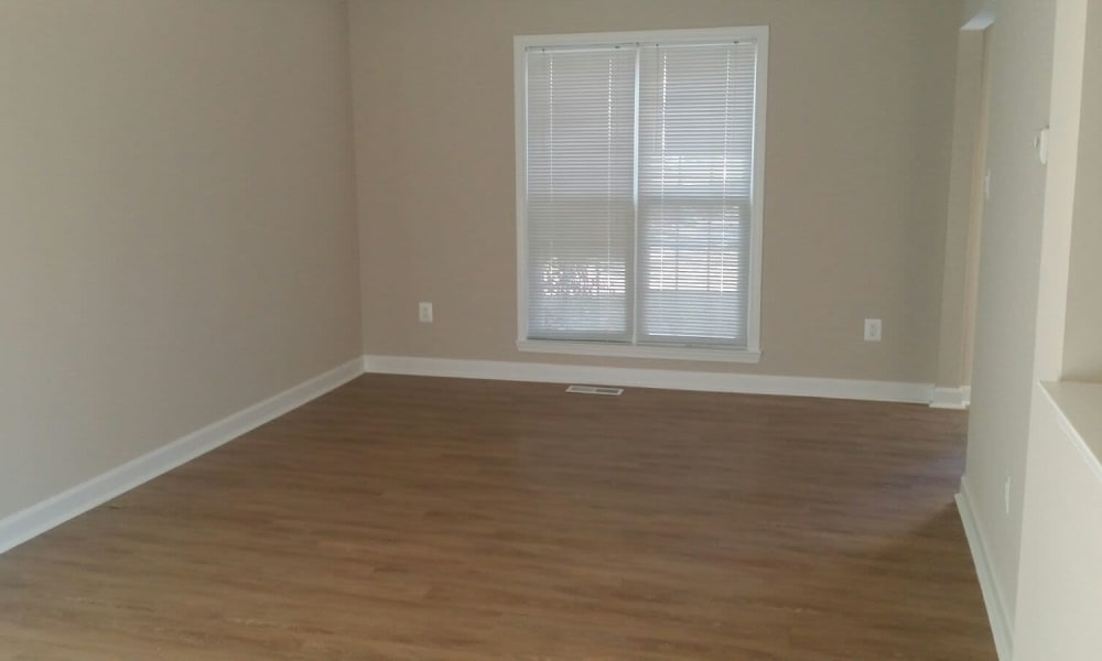 Spacious living room at Towne Centre Place in Olney, Maryland