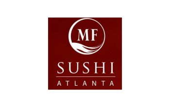 MF Sushi logo, a retail shop near Inman Quarter in Atlanta, Georgia