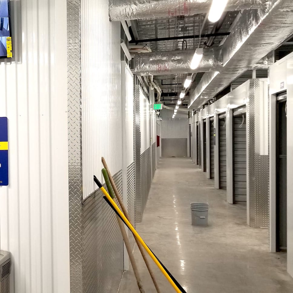 Climate-controlled units at self storage at Security Self-Storage in Colorado Springs, Colorado