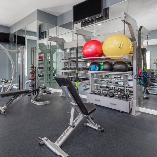View virtual tour of our fitness center at Highlands at Alexander Pointe in Charlotte, North Carolina