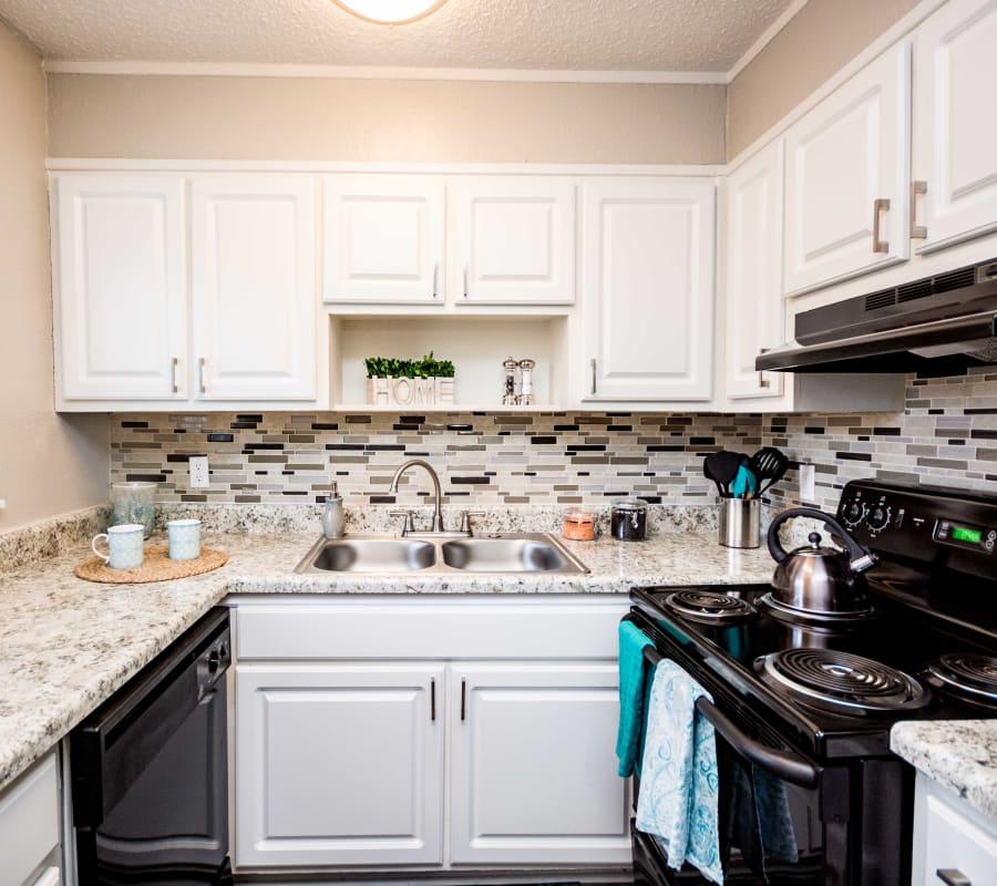Bright kitchen at Lexington Park Apartments in Smyrna, Georgia