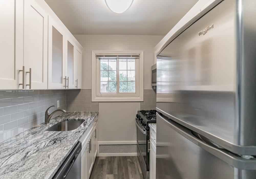 The kitchen set up at Eagle Rock Apartments at Mineola