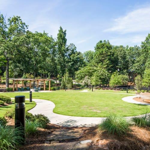 Green outdoor spaces at The Overlook Sandy Springs in Atlanta, Georgia