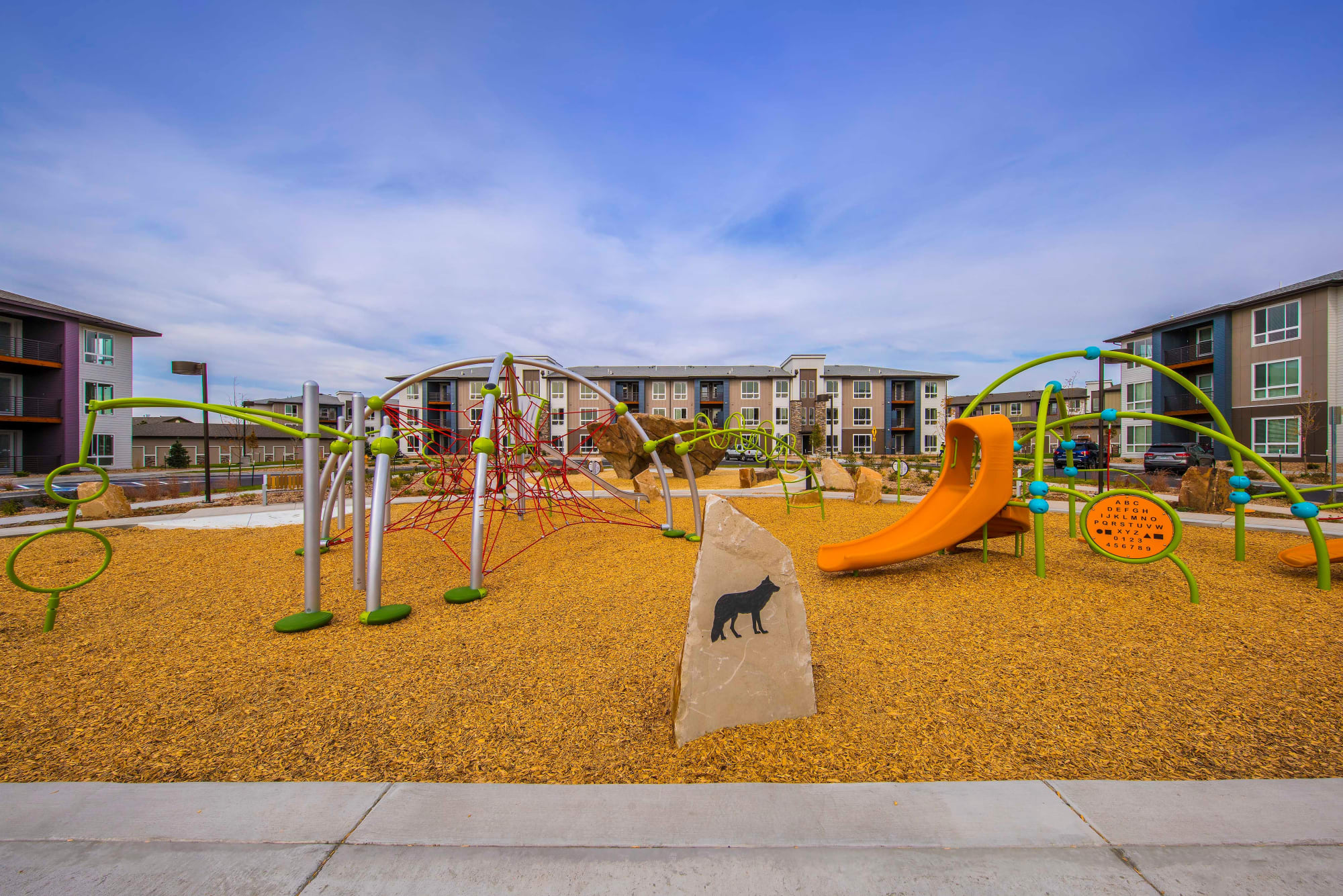 The playground at Strata Apartments in Denver, Colorado