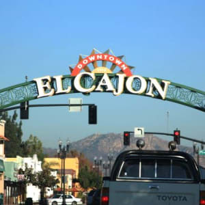 The city sign of El Cajon, California