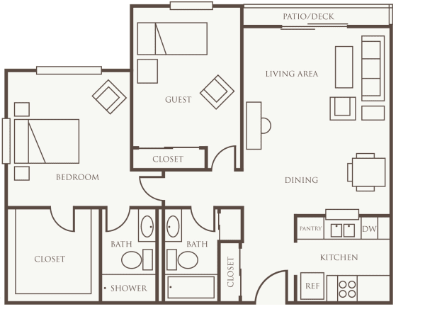 Two Bedroom at The Firs in Olympia, Washington