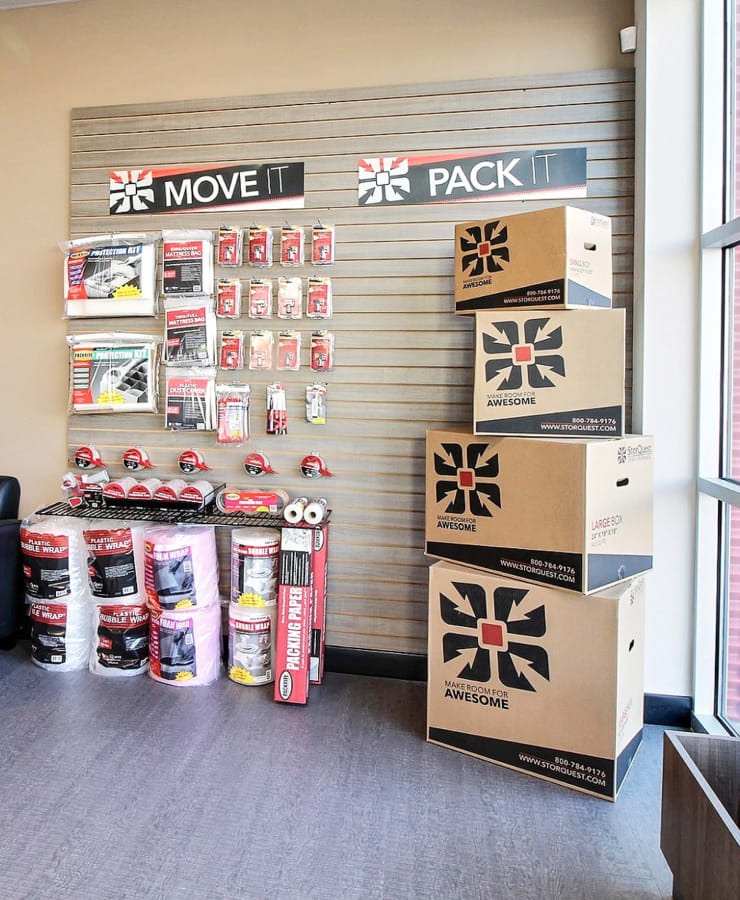 Packing supplies sold at StorQuest Express - Self Service Storage in Woodland, California