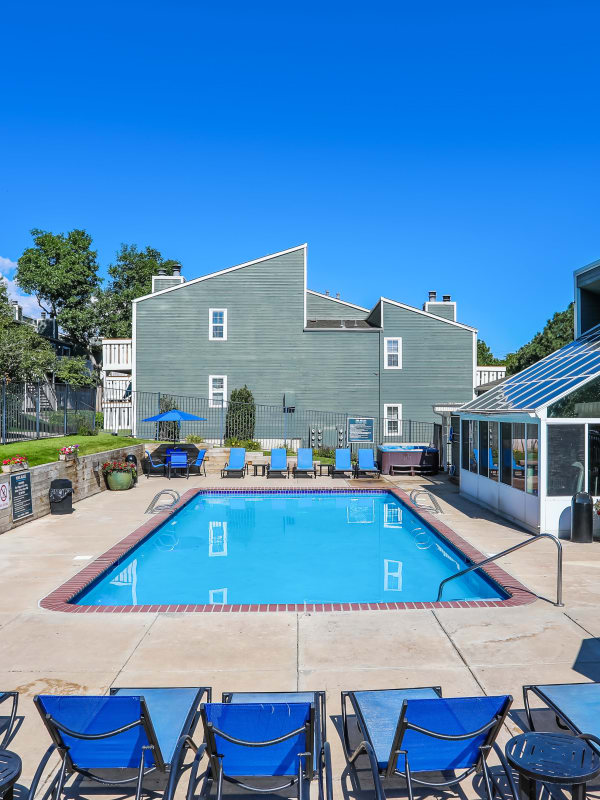 Pool at Bluesky Landing Apartments in Lakewood