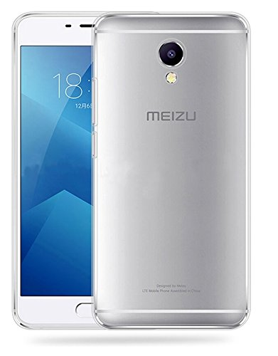 Plus Exclusive Soft Silicone TPU Transparent Clear Case Soft Back Case Cover With Original Packaging Kit For Meizu M5
