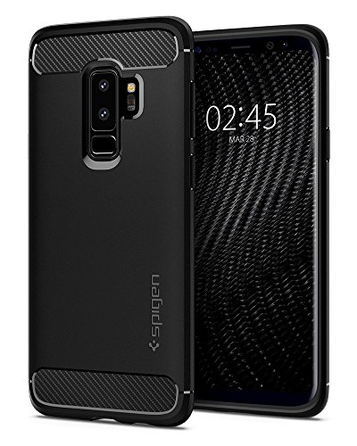Spigen Rugged Armor Case for Samsung Galaxy S9+ / Galaxy S9 Plus – Matte Black 593CS22921