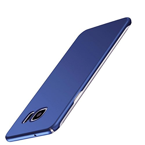 Kapa Silk Smooth Finish [Full Coverage] All Sides Protection Slim Back Case Cover for Samsung Galaxy S7 Edge – Slate Blue