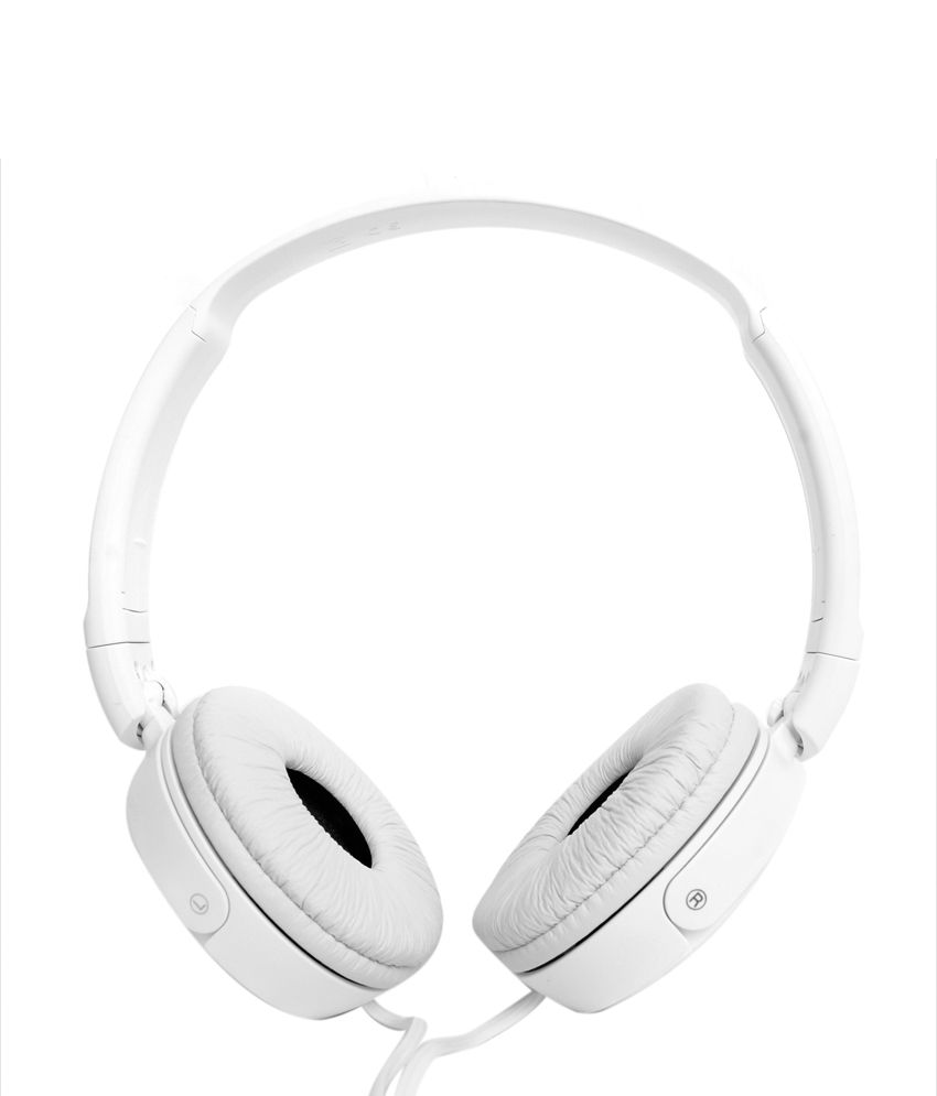 Buy Sony MDR-ZX110A Headphones Without Mic (White) at just Rs.577