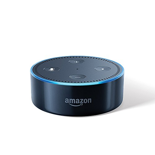 Echo Dot (black) – Voice control your music, Make calls, Get news, weather & more