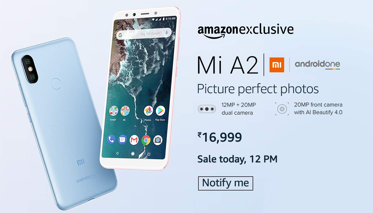 Xiaomi Mi A2 and Redmi 5A Flash Sale Today at Amazon