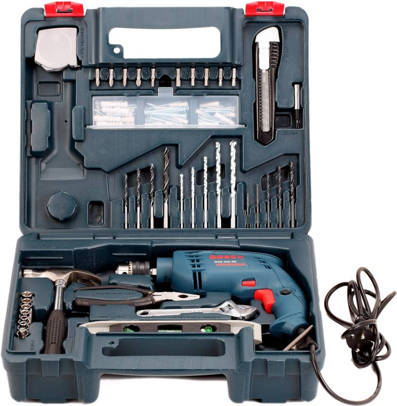 Buy Bosch GSB 500 RE Power & Hand Tool Kit With 48% Off