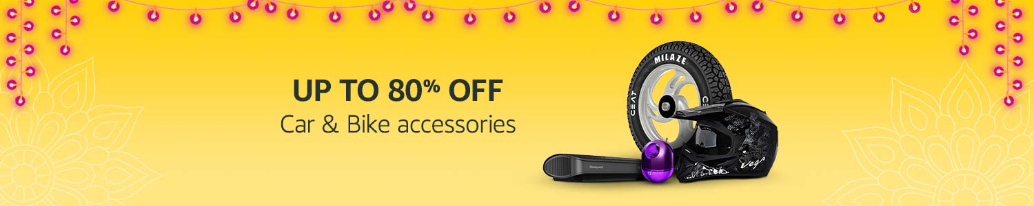 Get upto 80% Offer on Car & Bike Accessories