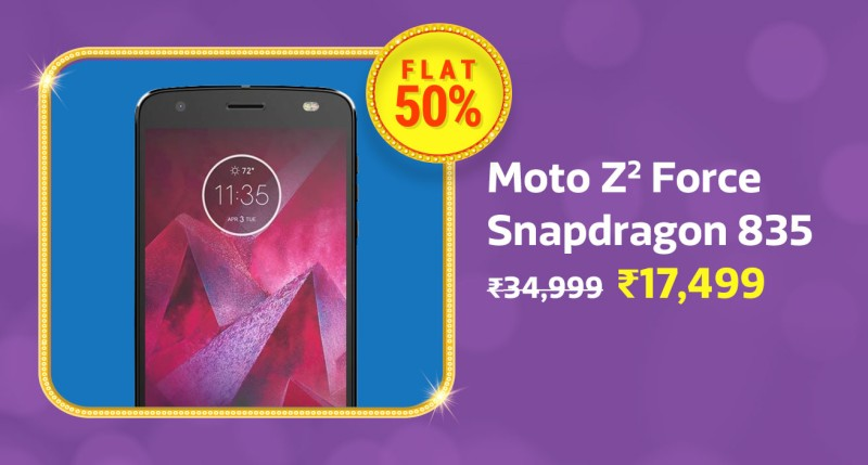 Get Moto Z2 Force (64 GB,6 GB RAM) With 50% Discount