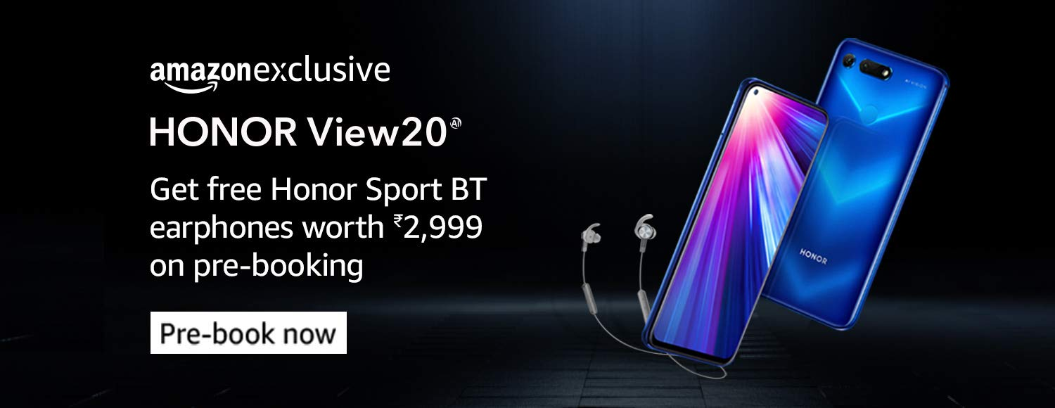 Honor View 20 is available for pre-booking , Get free Honor Sports BT Earphone