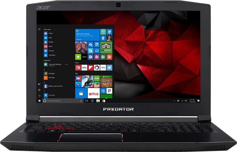 Acer Predator Helios 300 Core i7 7th Gen – (16 GB/2 TB HDD/256 GB SSD/Windows 10 Home/6 GB Graphics) G3-572 Gaming Laptop(15.6 inch, Black, 2.7 kg)