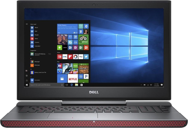 Dell Inspiron 15 7000 Core i7 7th Gen – (8 GB/1 TB HDD/128 GB SSD/Windows 10 Home/4 GB Graphics) 7567 Gaming Laptop(15.6 inch, Matt Black, 2.62 kg, With MS Office)