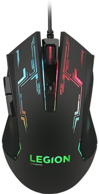 Lenovo Legion M200 Wired Optical  Gaming Mouse(USB, Black)