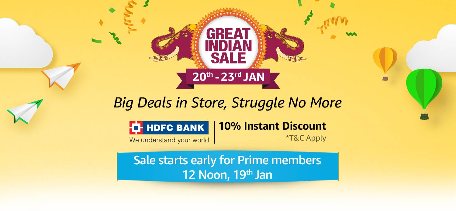 Amazon Great India Sale to Begin on January 20 ,Know offer details