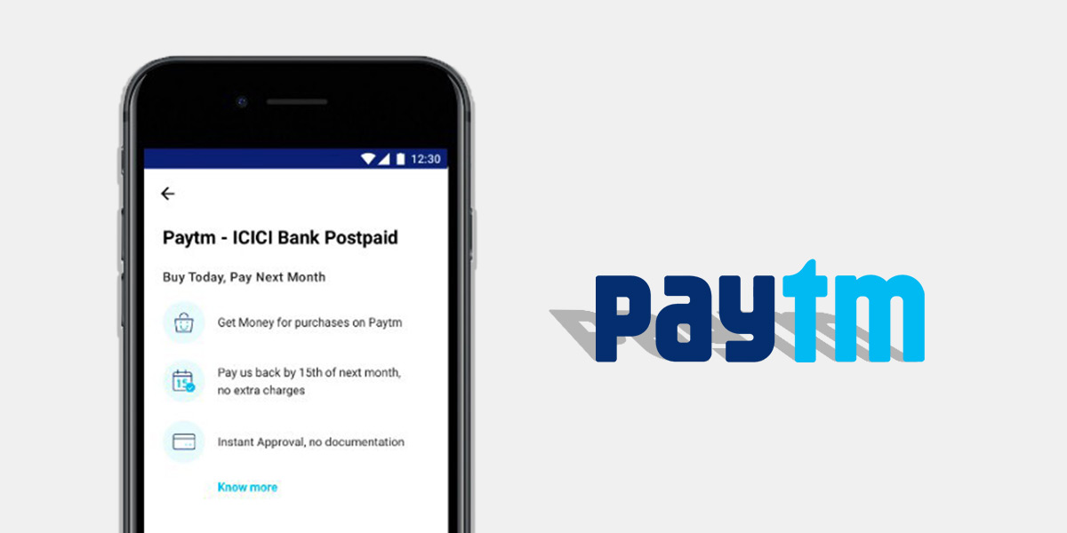 Paytm Postpaid allows users to spend upto Rs.60,000