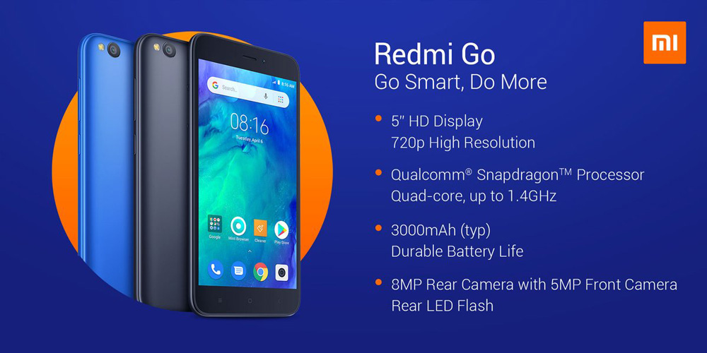 Xiaomi Launches Redmi Go smartphone at Rs, 4,499