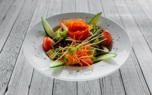 Order Smoked Salmon Salad | Special Salad | Michelangelo's Aspendale Gardens