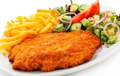 Order Chicken Schnitzel Dish Online |  Michelangelo's Aspendale Gardens