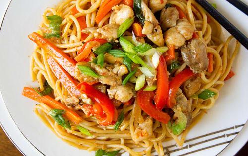 Schezwan Noodles Chicken - Masala Bar And Grill