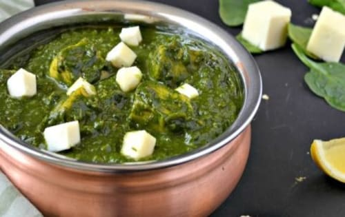 Order Palak Paneer Online | Blend of Curries | Masala Bar And Grill