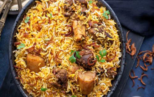 Goat Dum Biryani | Indian Breads / Rice / Accompaniments | Masala Bar And Grill