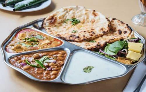 Paratha / Kulcha Thali | Lunch Menu | Masala Bar And Grill