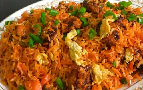 Schezwan Fried rice Egg - Masala Bar And Grill