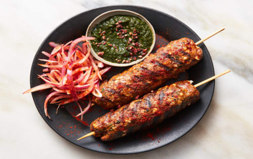 Lamb Seekh Kebab (4 pcs) - Welcome Indian Restaurant